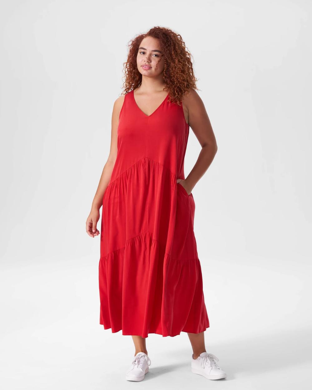 Emily Cupro Maxi Dress Red Dresses Red Dress Maxi Dress
