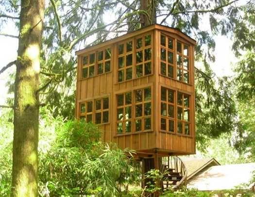 Easy Simple Tree House Plans | Modern Tree House Designs Bring Back  Romantic Backyard Ideas