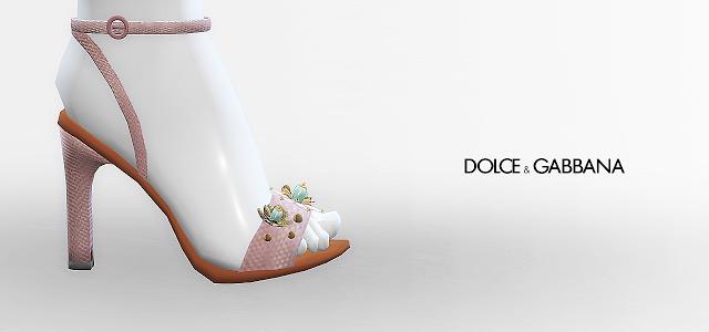 MA$ims4: Dolce&Gabbana Jewel Flower Sandals