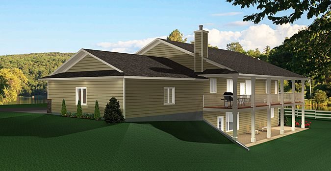 Plan 2011545 A Ranch Style Bungalow Plan With A Walkout Finished Basement 2 Car Garage 5 B Ranch House Floor Plans Ranch Style Homes Ranch Style House Plans