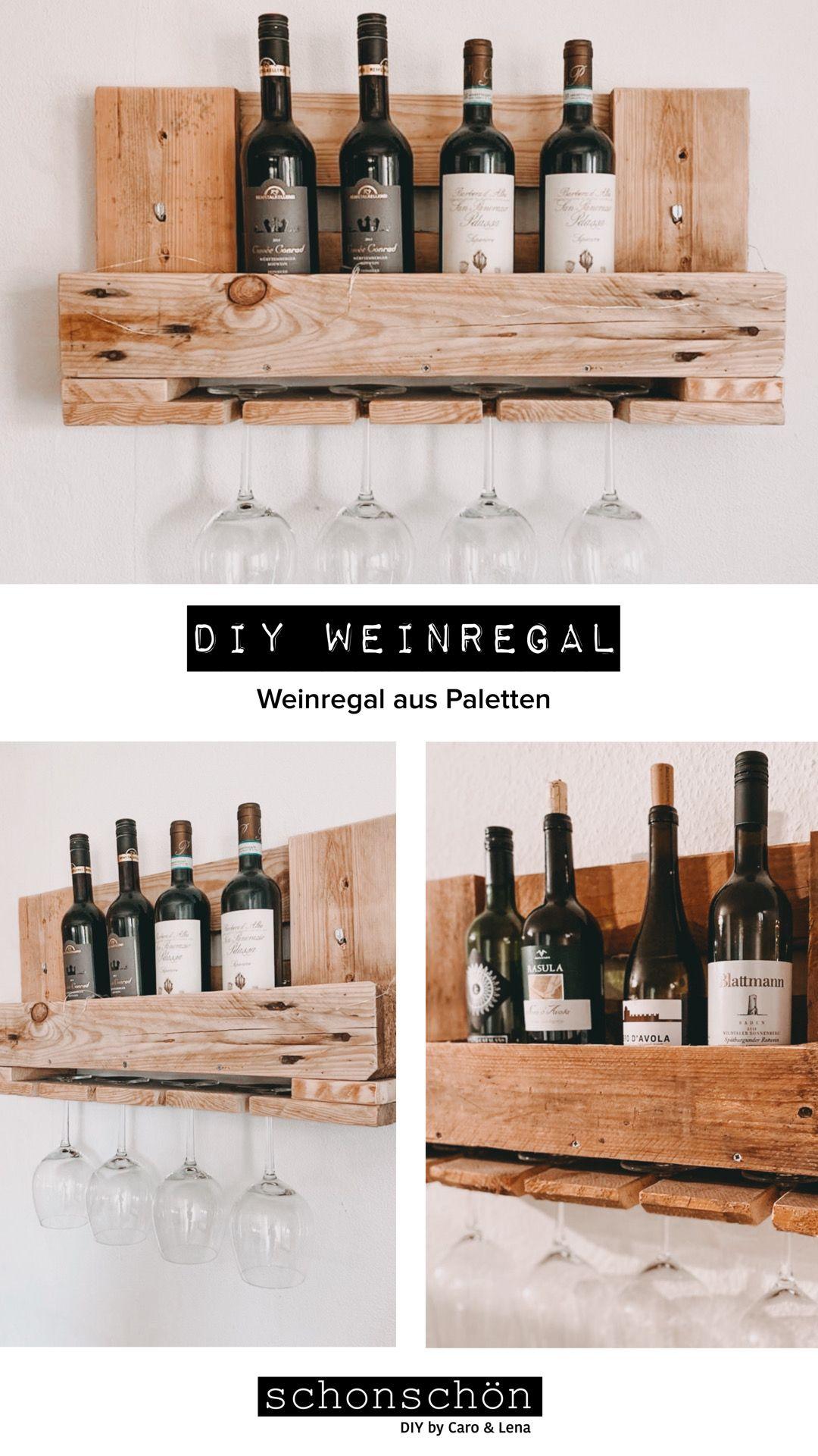 DIY Weinregal aus Europaletten selber machen