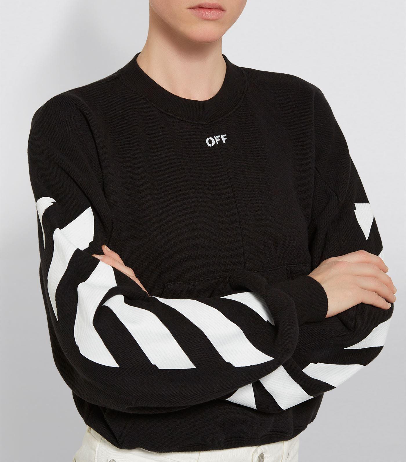e6ab7a8b3c3 Off-White Diagonal Stencil Sweatshirt  AD