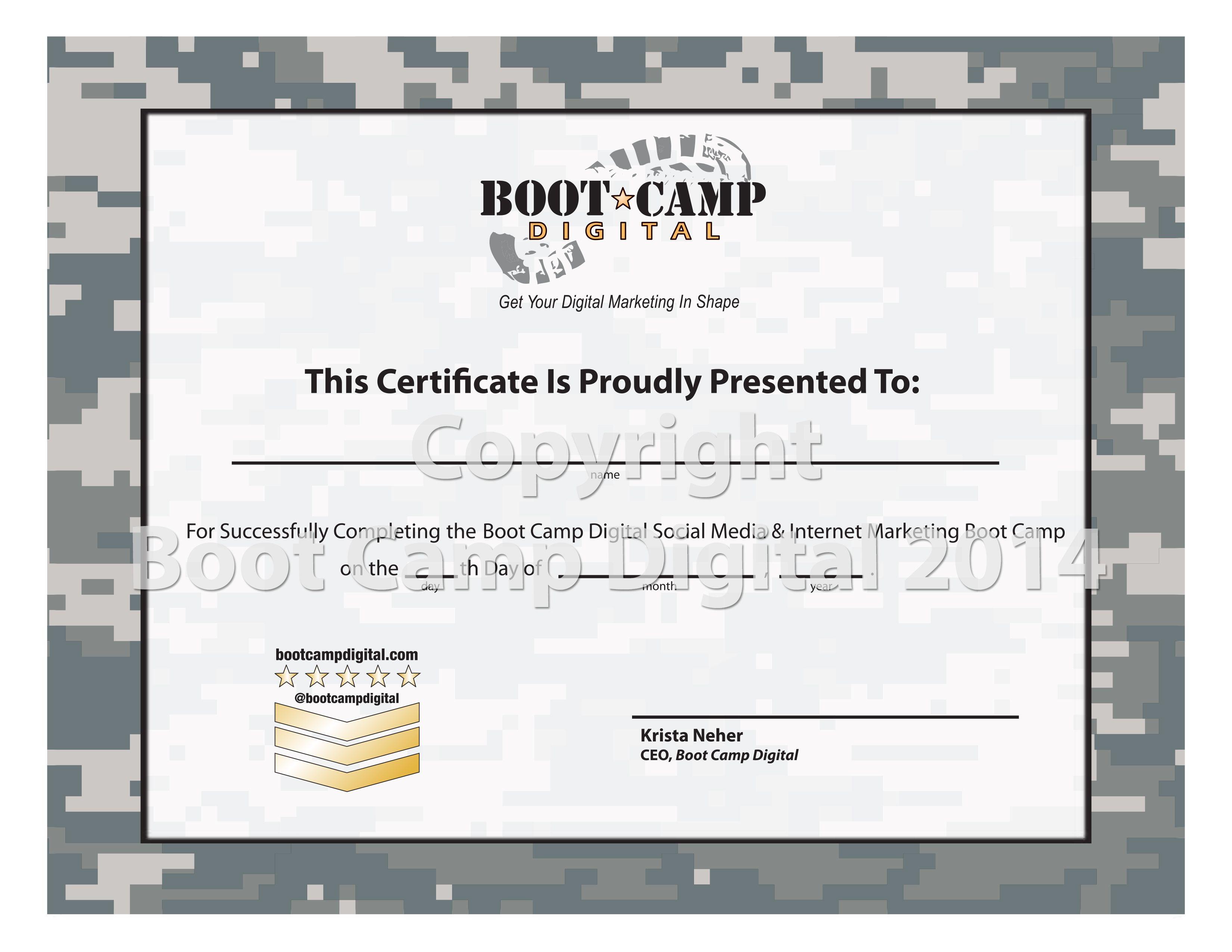 Boot Camp Digital Social Media Certification Digital Marketing