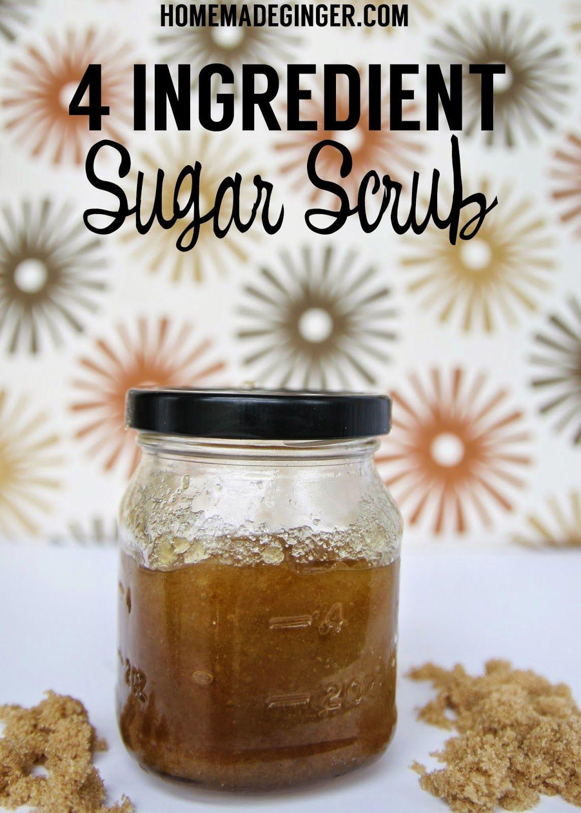 4 Ingredient Sugar Scrub Sugar scrub homemade, Homemade