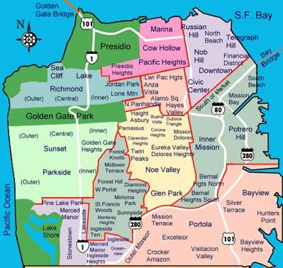 Pacific Heights San Francisco Map.Have Lived In Cow Hollow Pacific Heights The Inner Sunset The