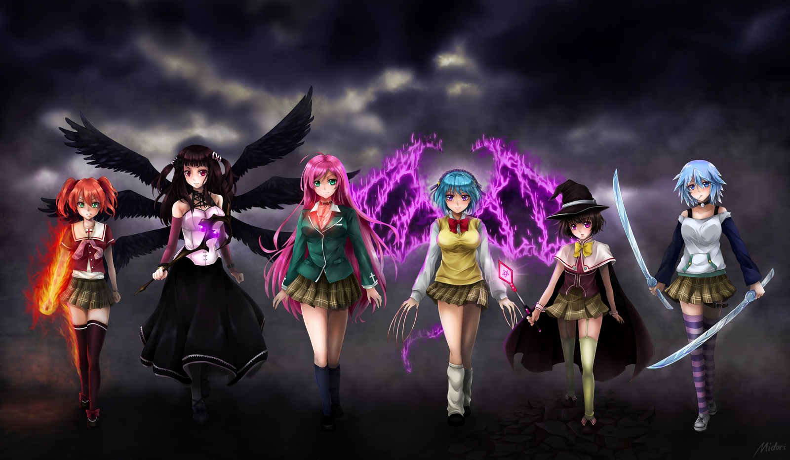 Anime Characters Vampire : Rosario vampire marvel heroes and dc with anime