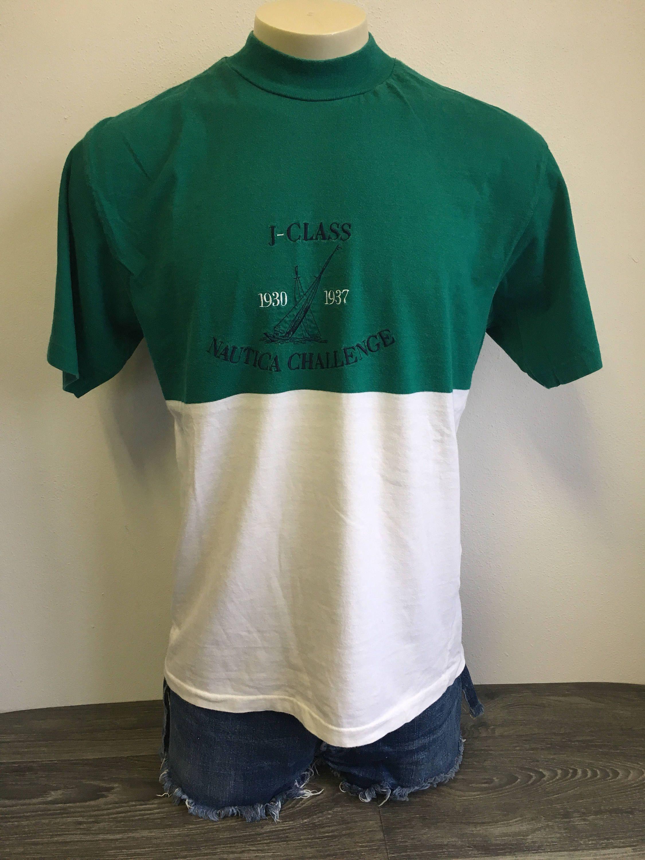 61e0b62b2 Nautica J Class Challenge Tshirt Vtg 90s Single Stitched Hong Kong Sewn  Lettering Shirt Cotton Shirt Boating Sports Large Tee by sweetVTGtshirt on  Etsy