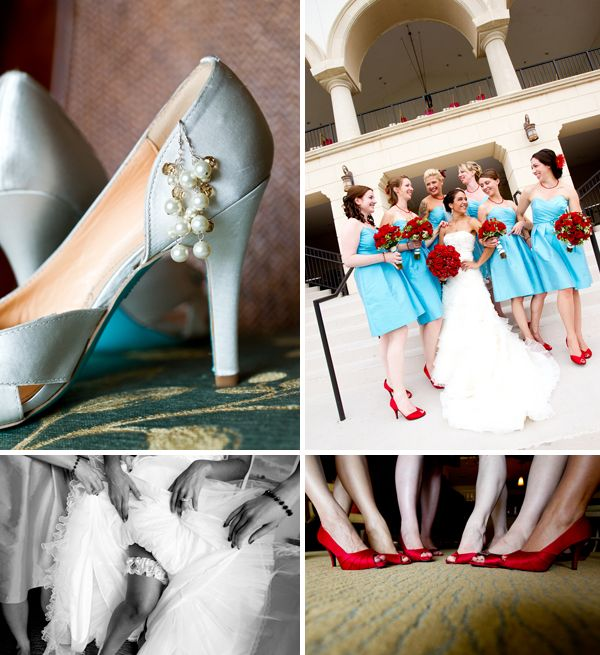 Red And Tiffany Blue Wedding Ideas: Tiffany Blue And Red Wedding-Stunning Color Combo + Clever