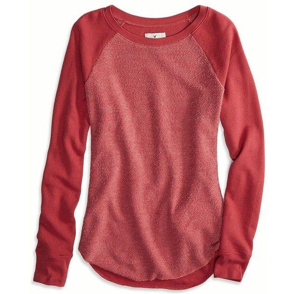 7e6ac1ff American Eagle Factory Tonal Raglan Sweatshirt | a TFC's Closet ...