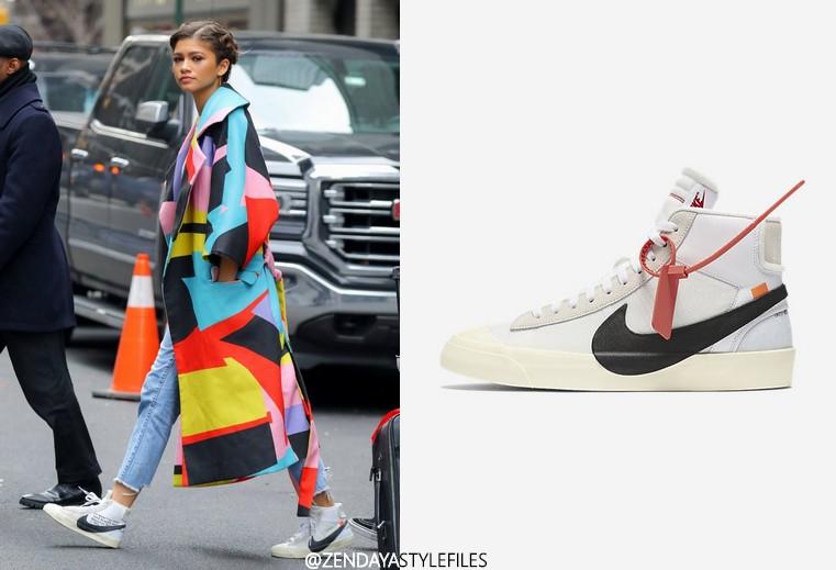 Zendaya + Nike x off white blazer mid top sneaker