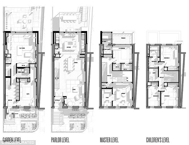 Floor Plans The Designs Clearly Show The Wet Room And Restroom Top Right Architectural Floor Plans Floor Plans Architectural House Plans