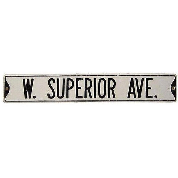 """Street Sign Home Decor Captivating Wsuperior Ave"""" Metal Street Sign €120 ❤ Liked On Polyvore Review"""