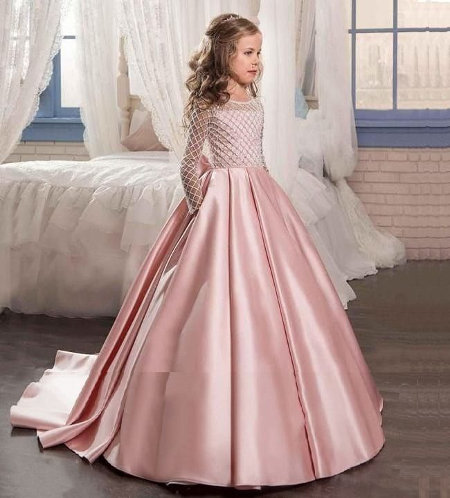 20 Best Girls Party Wear Frocks Dresses Designs For Wedding Looksgud In Girls Ball Gown Gowns For Girls Princess Dress Kids,Cinderella Coming To America Wedding Dress