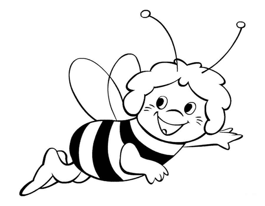 Free Animals Bee Printable Coloring For Preschool