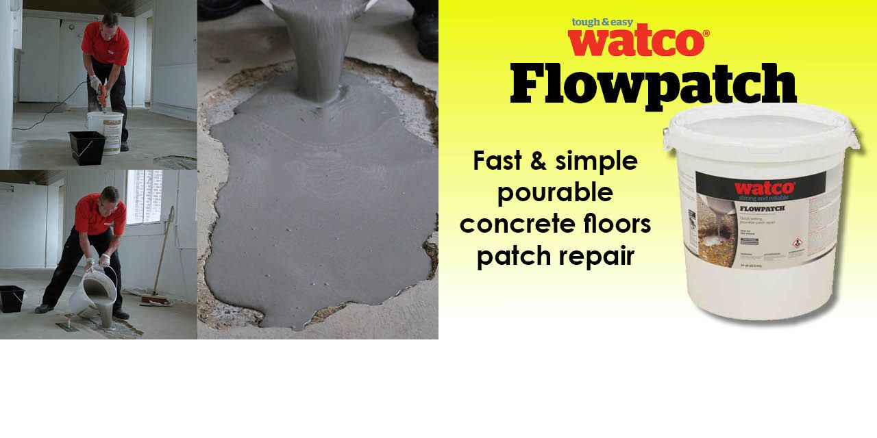 Watco S Flowpatch Is One Of The Toughest Concrete Repair Products For Concrete Repair Diyers Concrete Floor Repair Concrete Repair Products Repair