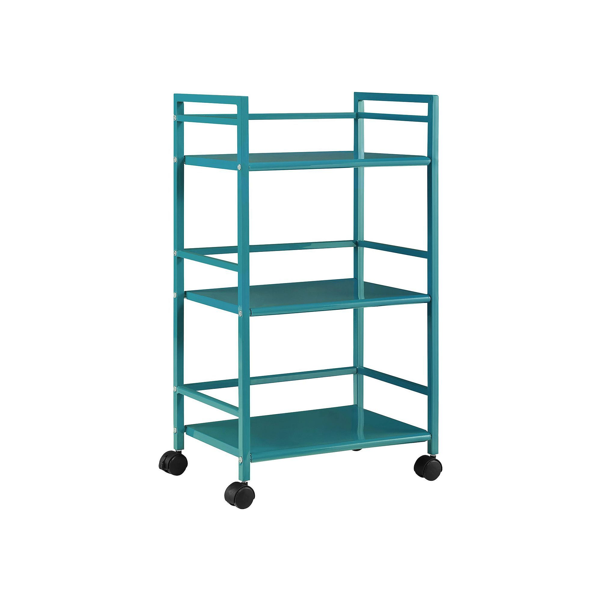 altra marshall metal rolling utility cart blue