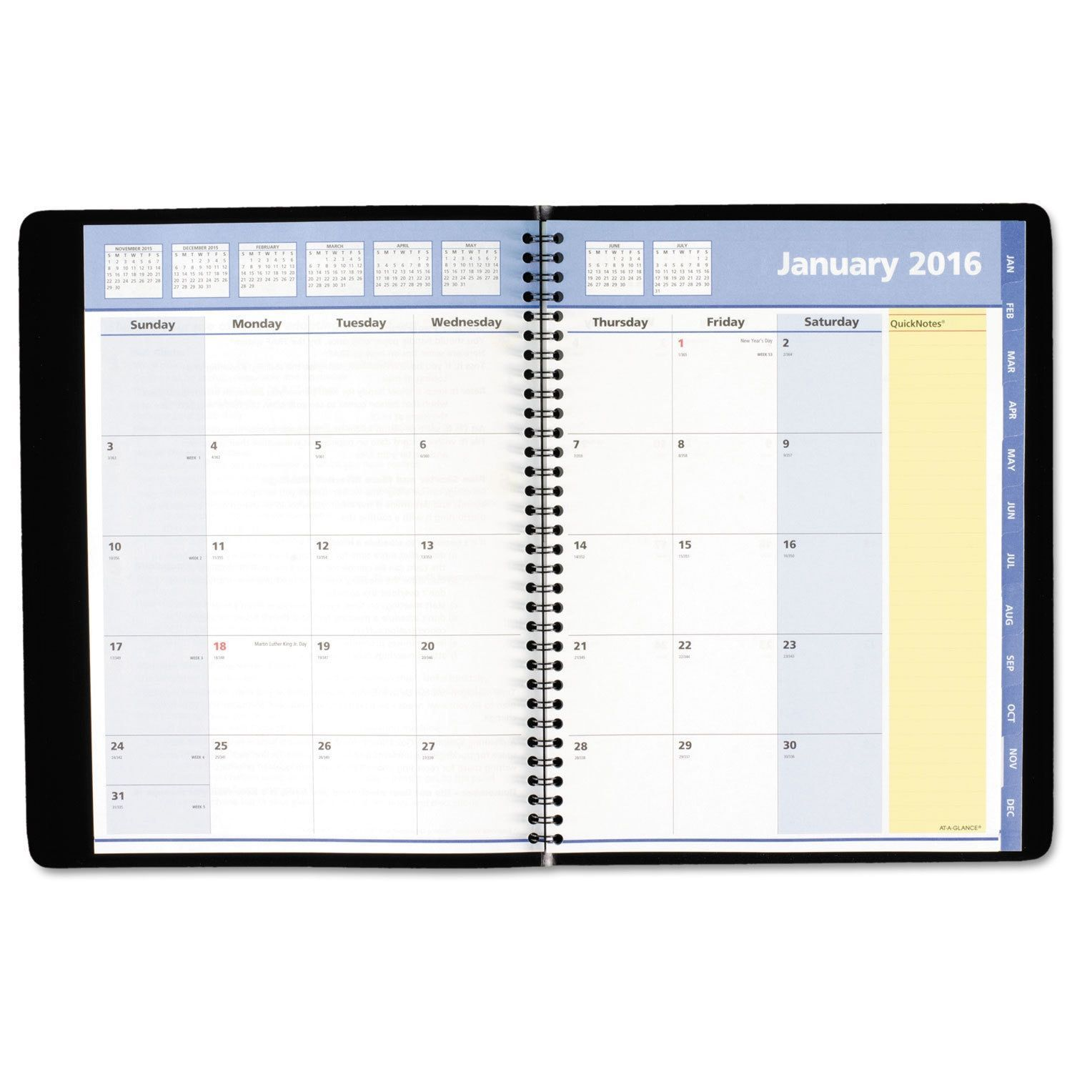 At A Glance Quicknotes Monthly Planner 8 1 4 X 10 7 8 Black