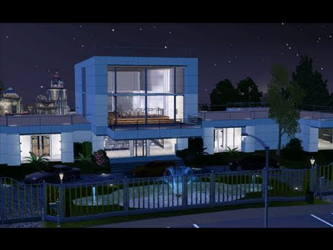 The Sims 3 Building A Modern Celebrity Mansion Youtube Celebrity Mansions Mansions Sims 3 Mansion