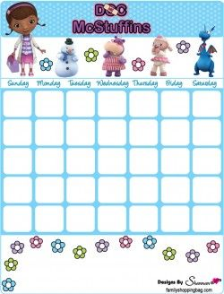 {free} printable Doc McStuffins, Calendars