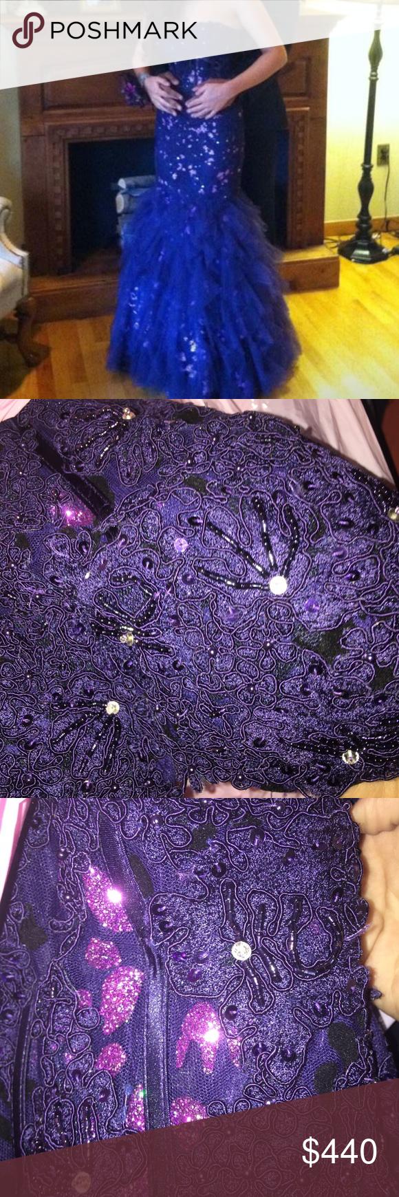 Faviana purple mermaid fit formal prom dress formal prom dresses