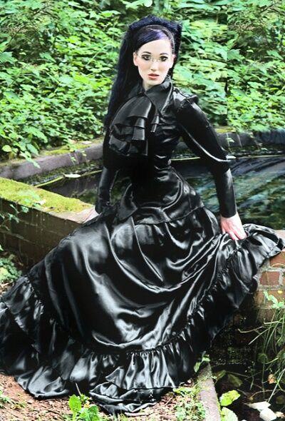 Gothic Satin Dress