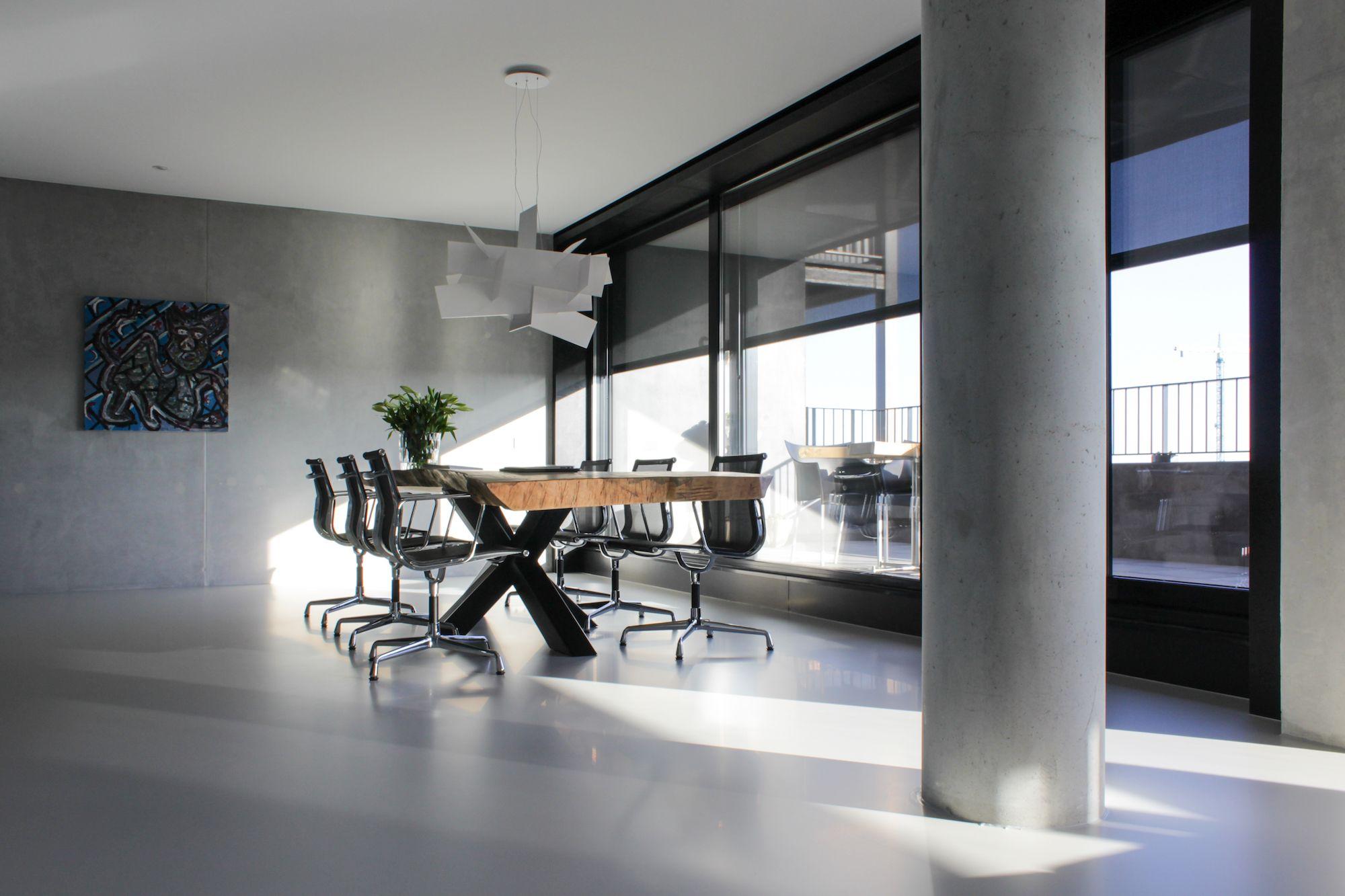 Design Vloer Eetkamer | Motion Gietvloeren #Gietvloer #Betonlook ...