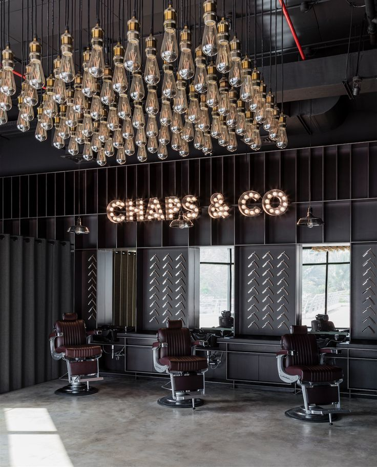 chaps co barbershop jlt dubai barbershop ideasbarbershop designsalon - Barbershop Design Ideas