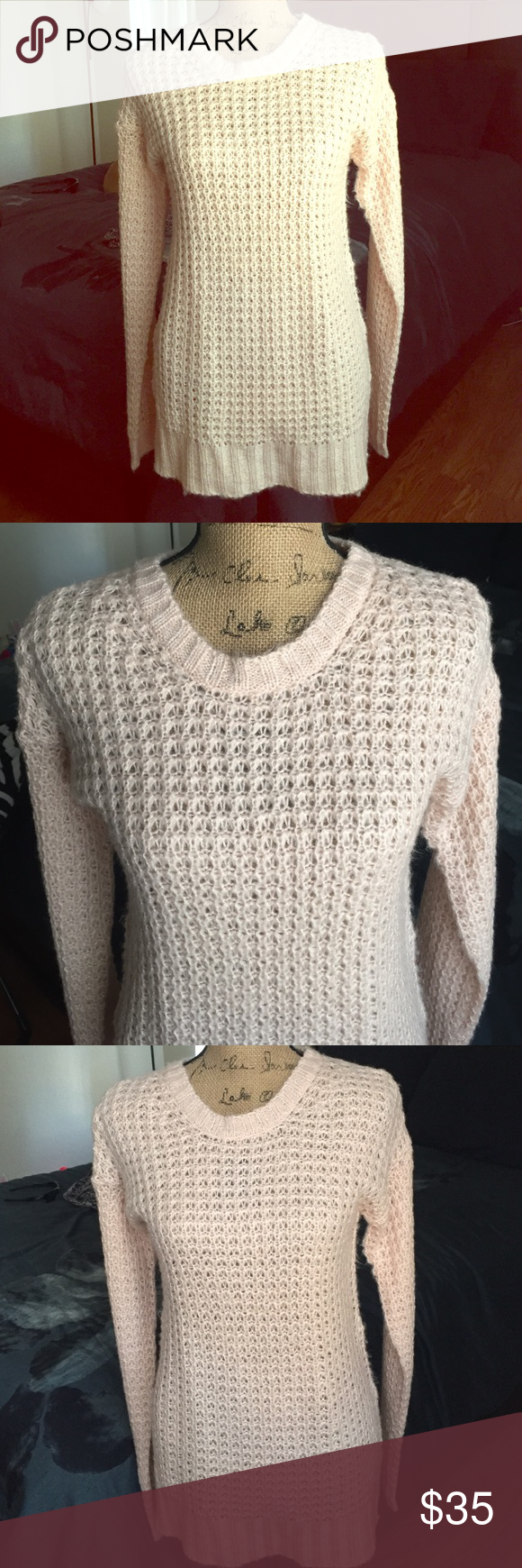 Cute knit light pink sweater high low 💕 | Seasons, High low and ...