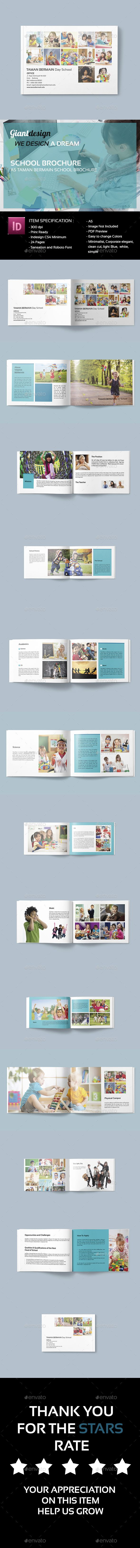 PreSchool Brochure  — InDesign Template #study #school • Download ➝ https://graphicriver.net/item/preschool-brochure/17768120?ref=pxcr