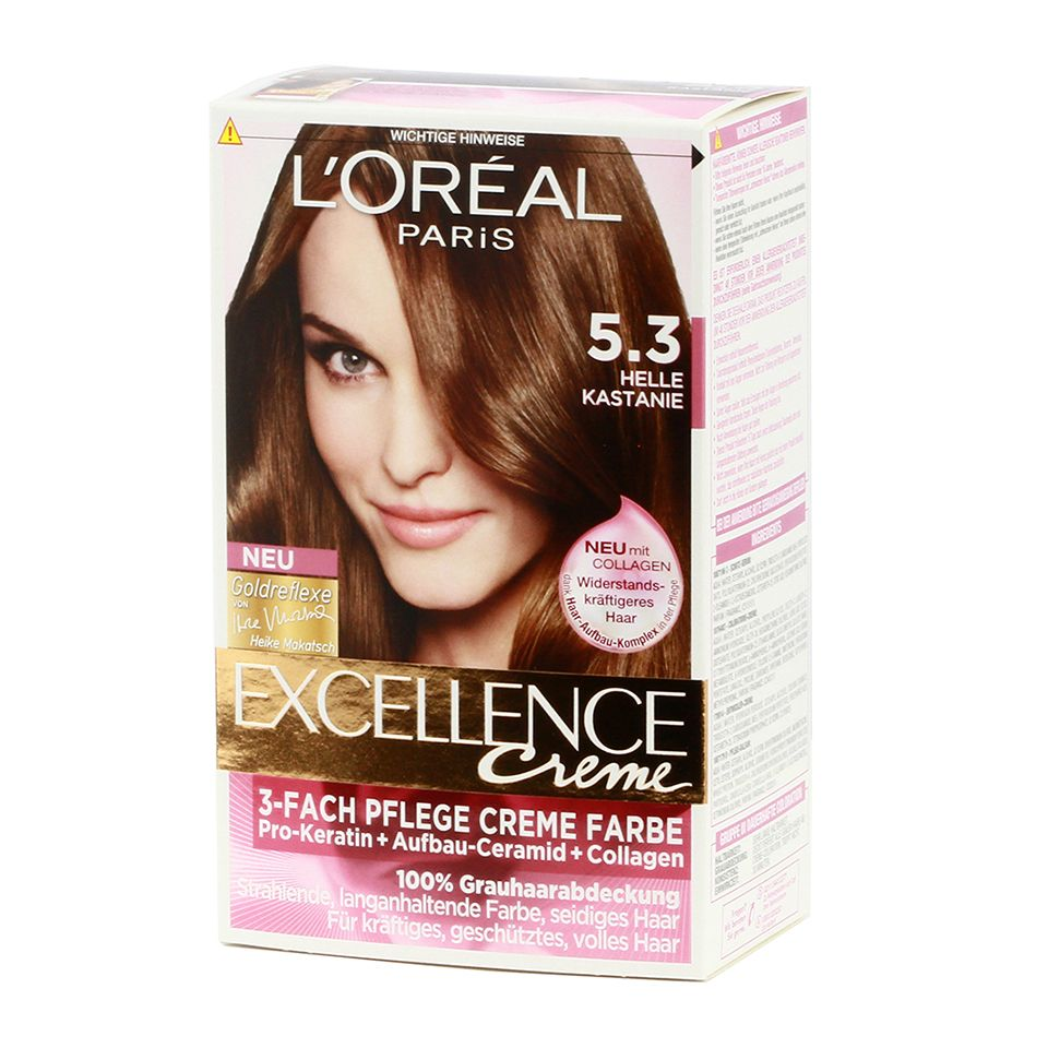 Loreal paris excellence cream 53 helle kastanie httpwww excellence crme is the best treatment for hair from the inside is revitalized and shine of beauty loreal hair color geenschuldenfo Images