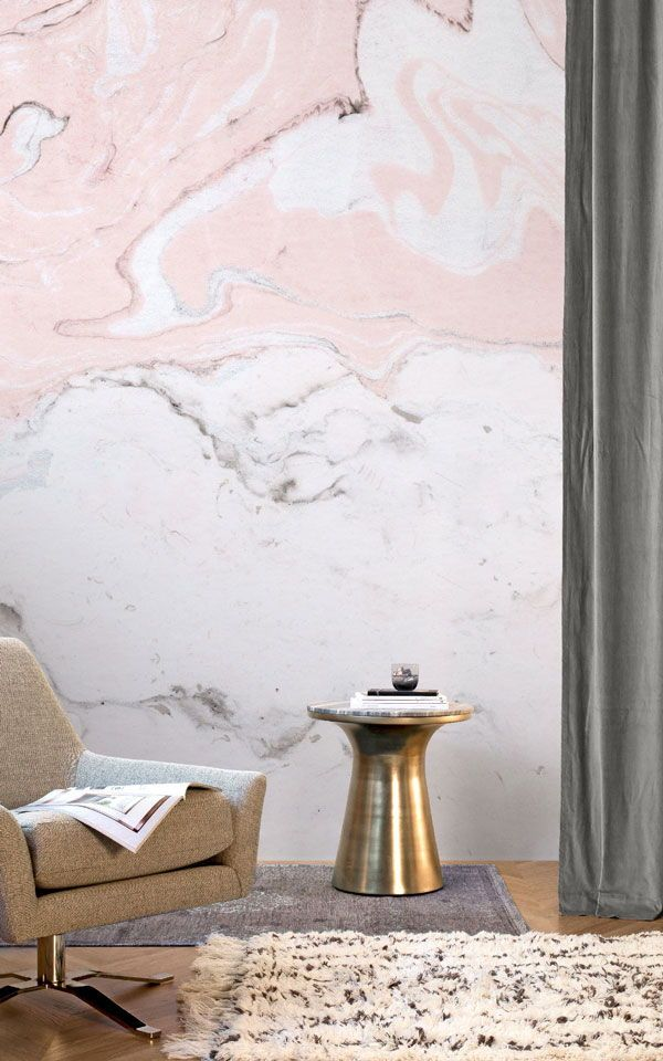 Rosa Und Weiße Marmorierte Tapete | My House | Pinterest | Ceilings,  Wallpaper And Interiors