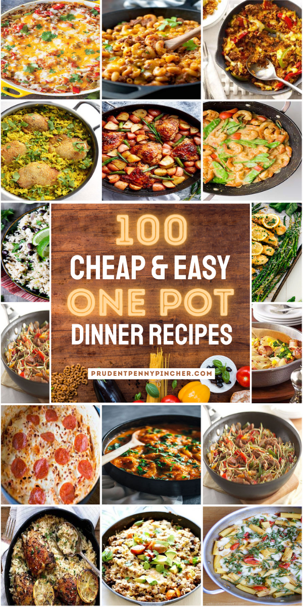 100 Cheap Easy One Pot Meals In 2021 One Pot Meals Easy One Pot Meals Cheap Healthy Meals