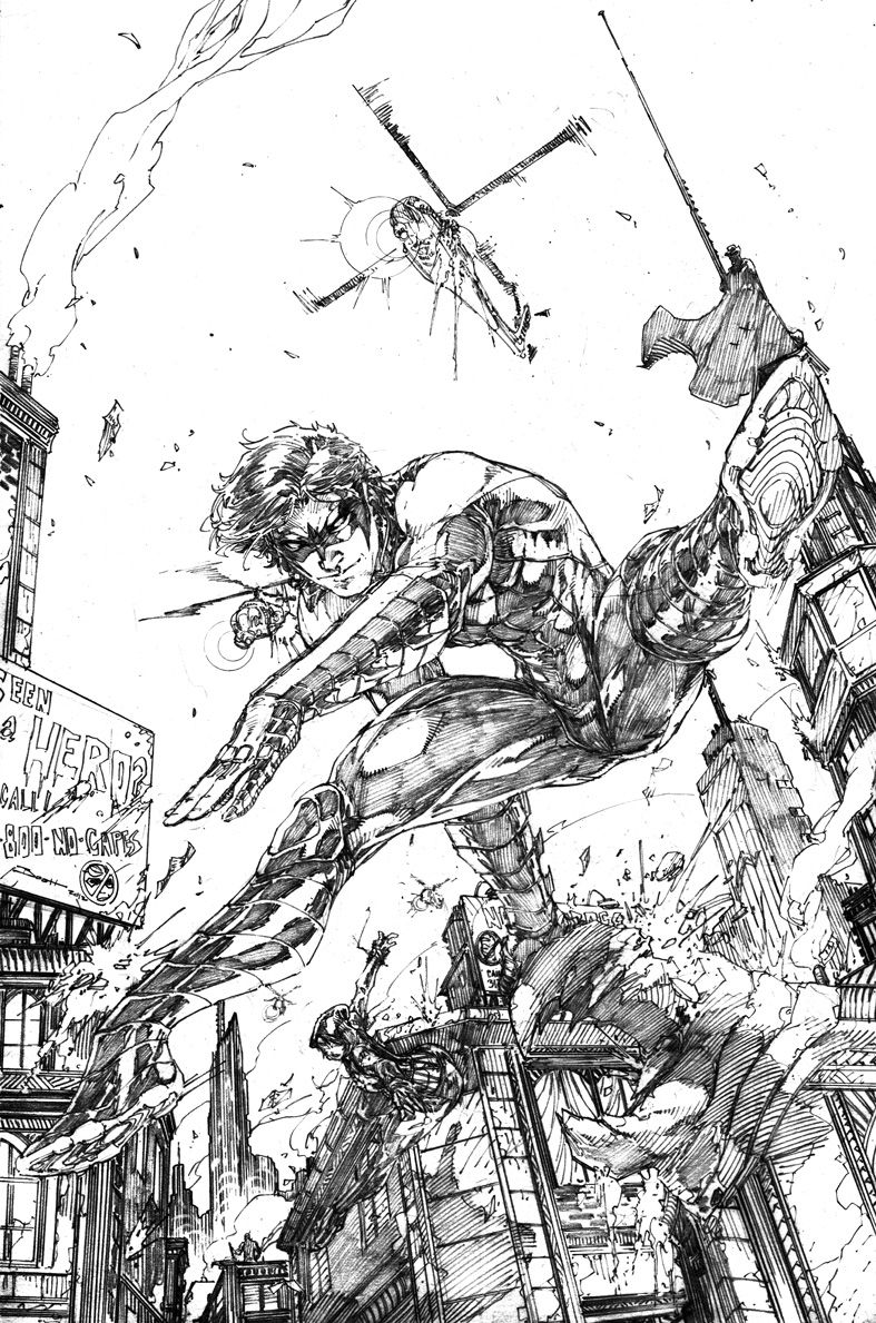 Nightwing by Brett Booth | Comics | Pinterest | Dibujo y Arte
