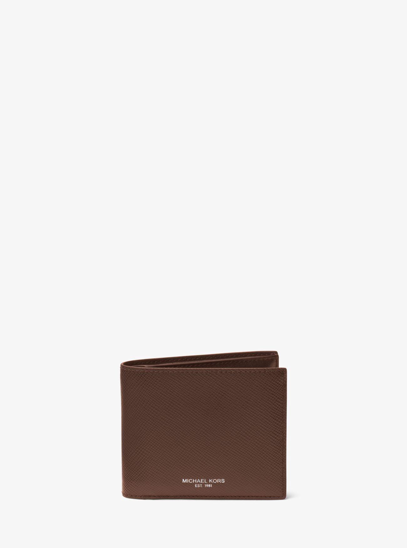 1449b5037bcc Michael Kors Harrison Leather Id Billfold Wallet - Navy