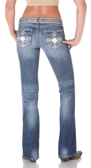 6b370548343b7 Wrangler Women s Rock 47 Ultra Low Rise Boot Cut Jean - Light Wash -- Light  denim is definitely in this Spring!