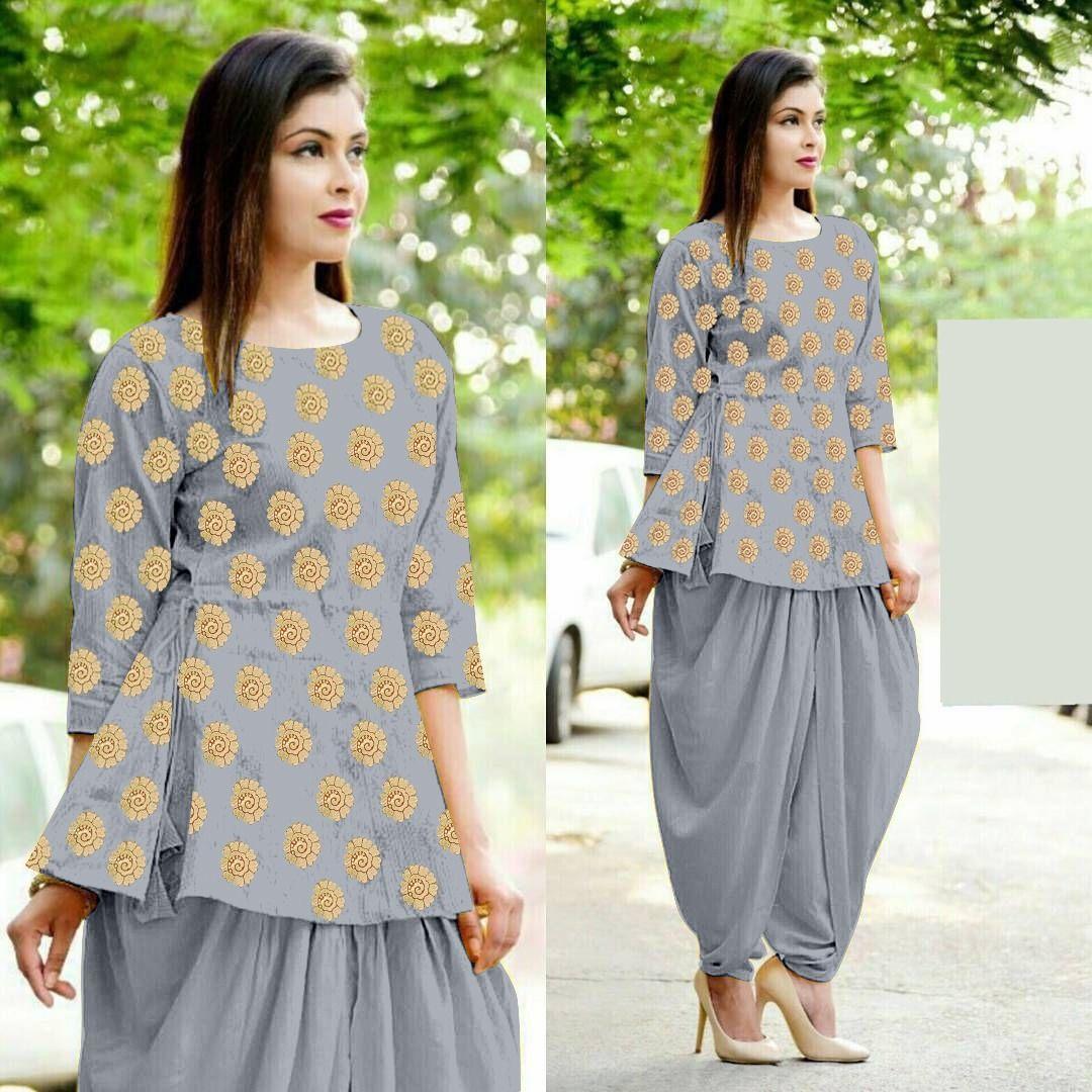 Grey Color Designer Salwar Suits With Patiyala Kameez Designs