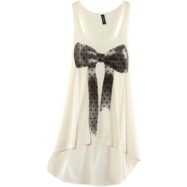 H&M Top ($6.43) ❤ liked on Polyvore featuring tops, h&m, shirts, tank tops, camisetas, women, rayon tops, shirt vest, jersey shirt and print tank top