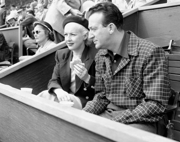 Betty Grable and husband Harry James