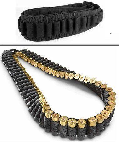 Tactical 56 Round Shotgun 12 /& 20 Gauge Ammo Bandolier Shell Holder Sling Belt