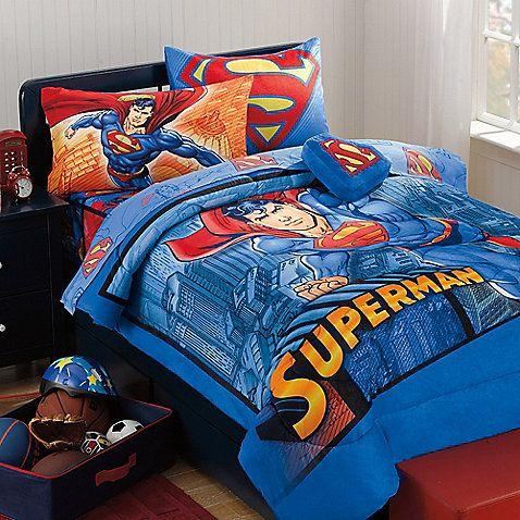 Superman Super Upper Hand Bedding Set Superman Bedroom Superman