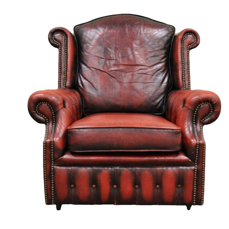 red leather chair office