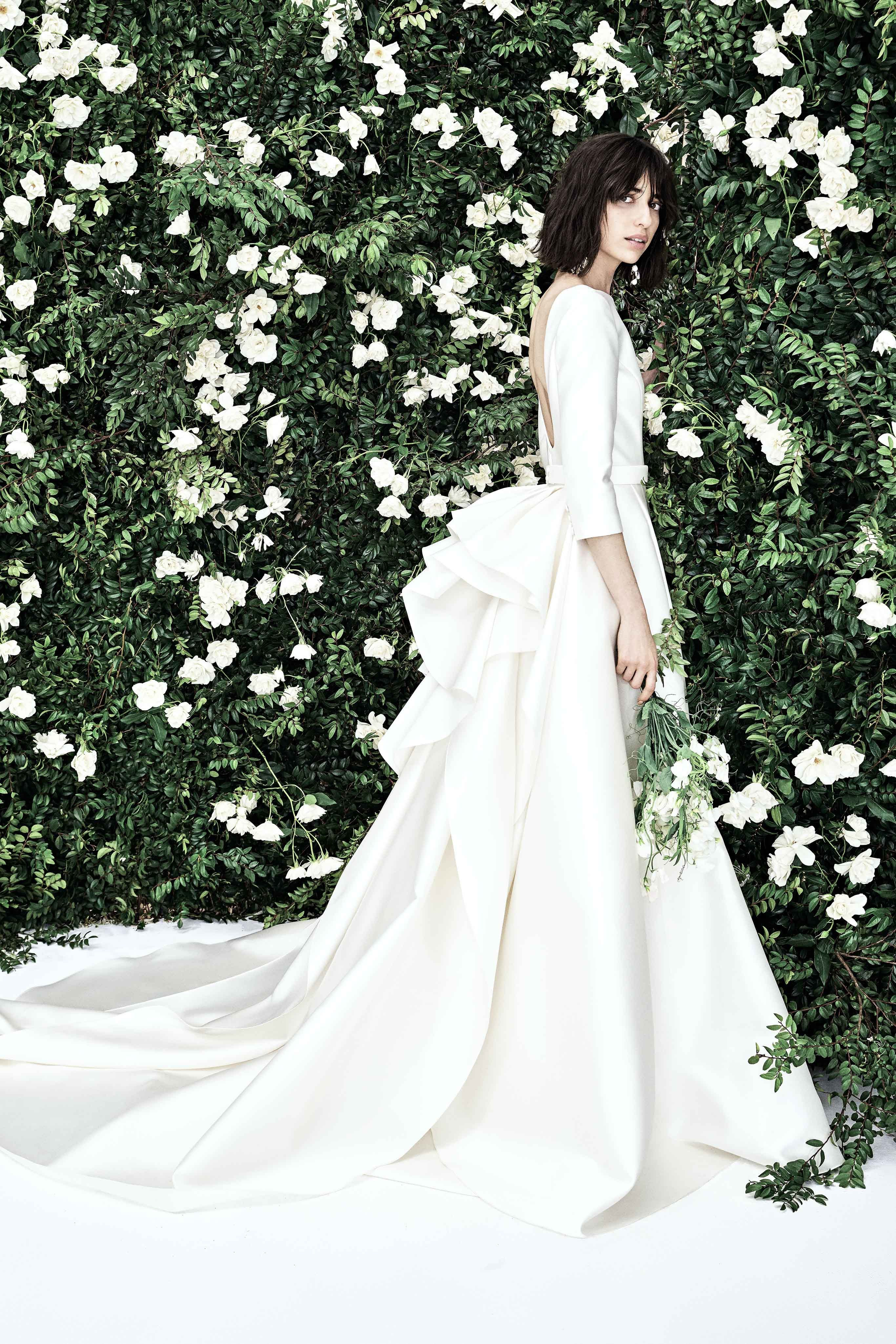 Carolina Herrera Bridal Spring 2020 Fashion Show Carolina Herrera Bridal Herrera Wedding Dress Wedding Dress Trends