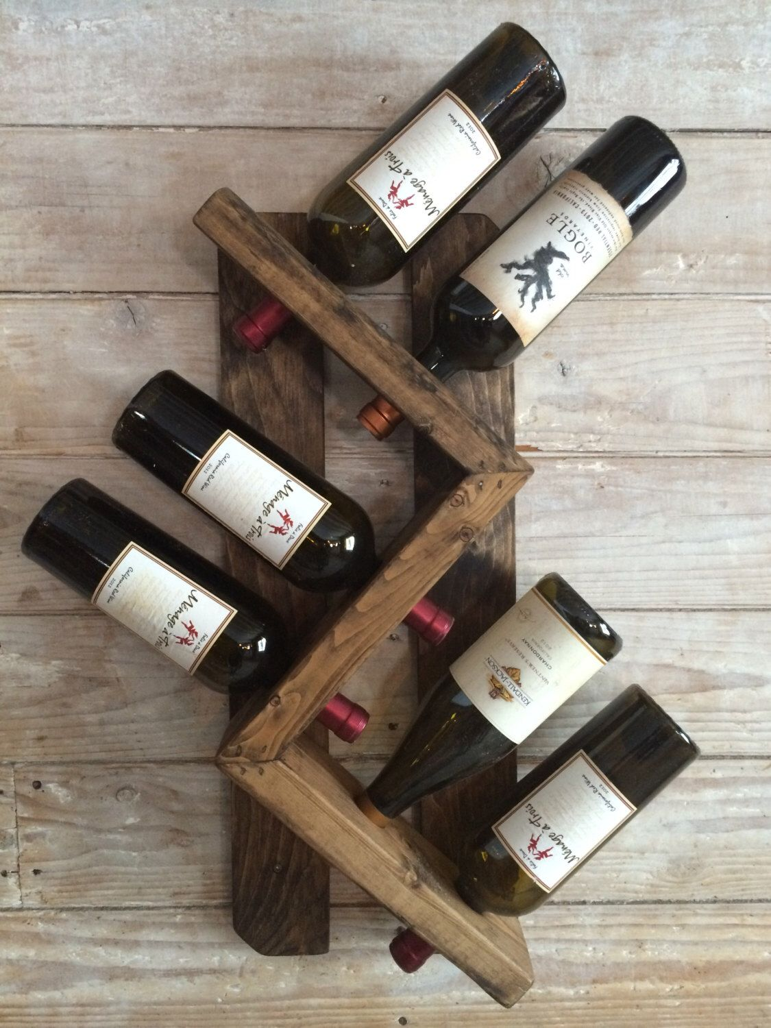 Wine rack-wall mounted wine rack-rustic vintage wine rack by ...