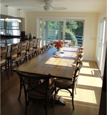 Beautiful 10ft Reclaimed Oak Trestle Table Farmhouse Dining Room