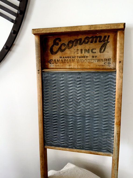 Vintage Economy Washboard Zinc Made In Canada By Canadian Woodenware  Company Metal Farmhouse Country Laundry Decor