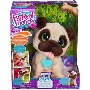 Brand New Furreal Friends Jj My Jumping Pug Pet Toy Sangrael S Yellow Pet Toys Pugs Plush Animals