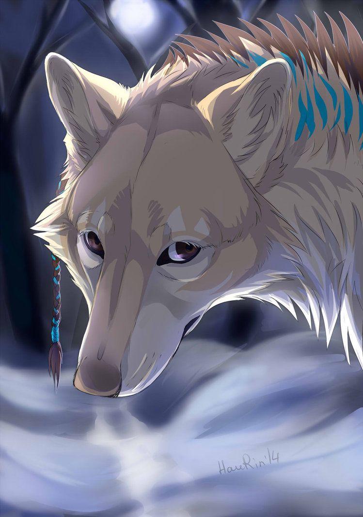 Картинки про аниме волки арты