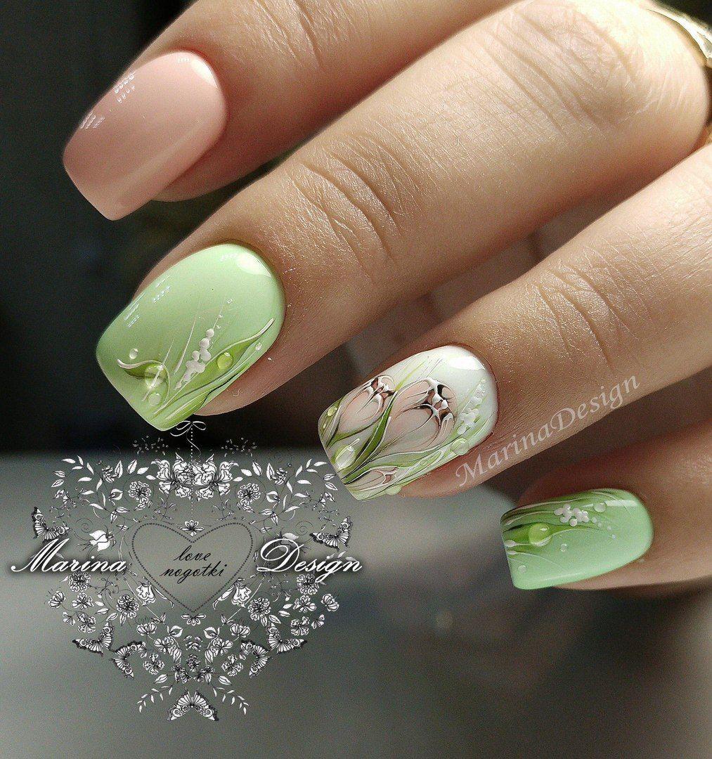 Маникюр   Дизайн ногтей   ВКонтакте   Дизайн (Цветы)   Ногти ...