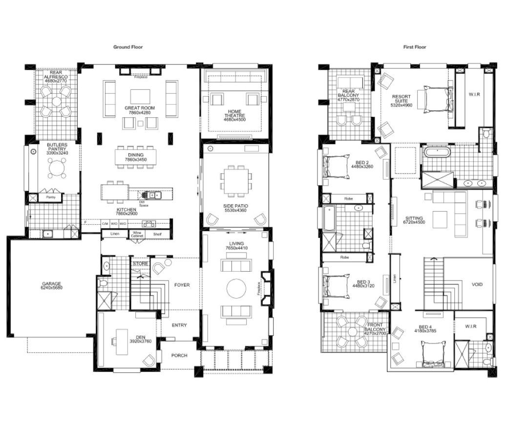 Grange Double Story House Double Storey House Plans 5 Bedroom House Plans