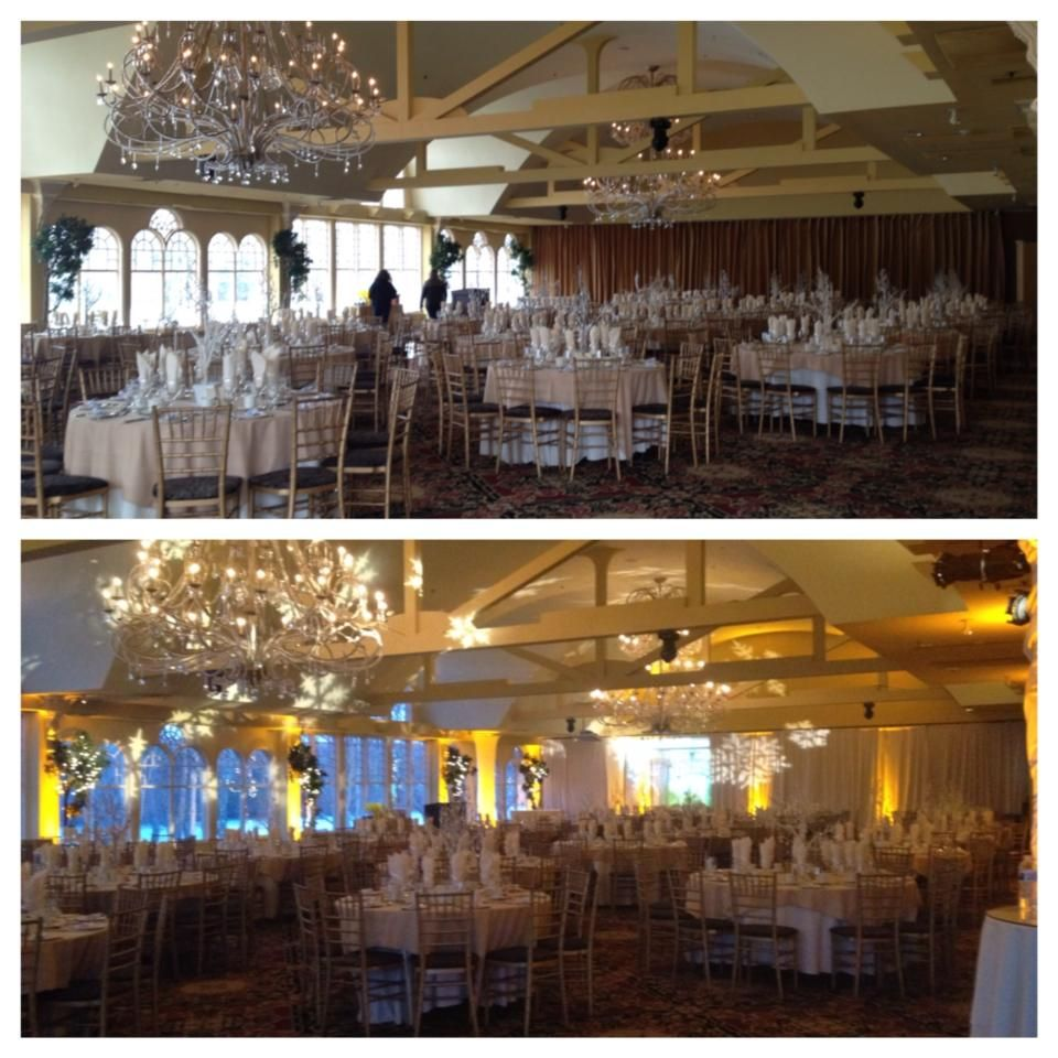 The lighting really makes a big difference! #lighting #uplighting #chandeliers